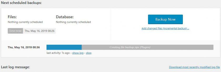 Backup Plugin to Backup Wordpress Site