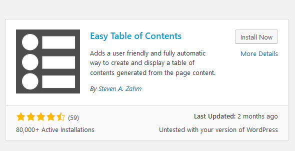 Create Table Of Contents