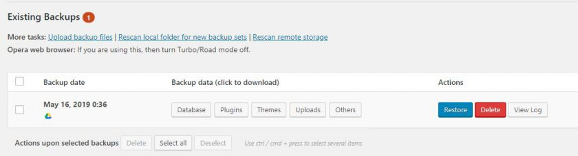 Easy Tips to Backup Wordpress Site With Updraftplus