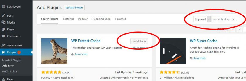 Wp Fastest Cache Tutorial Step 1