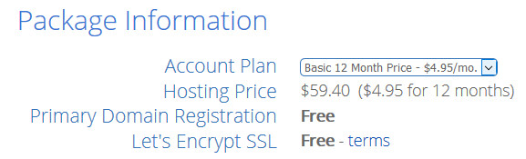 Free Domain From Bluehost