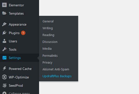restore wordpress site with updraft
