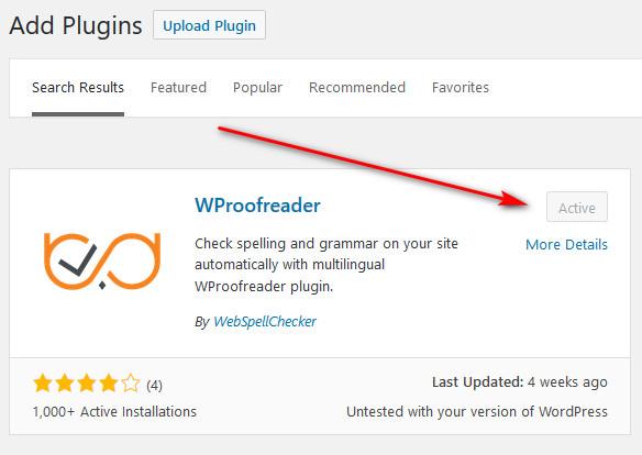 Wproofreader Spell Checker WordPress Plugin