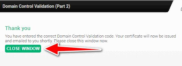 Free ssl certificate for wordpress - SSL Setup 10 - Domain Verified