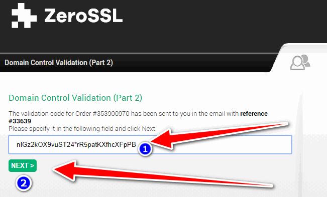 Free ssl certificate for wordpress - SSL Setup 9 - Verification Key