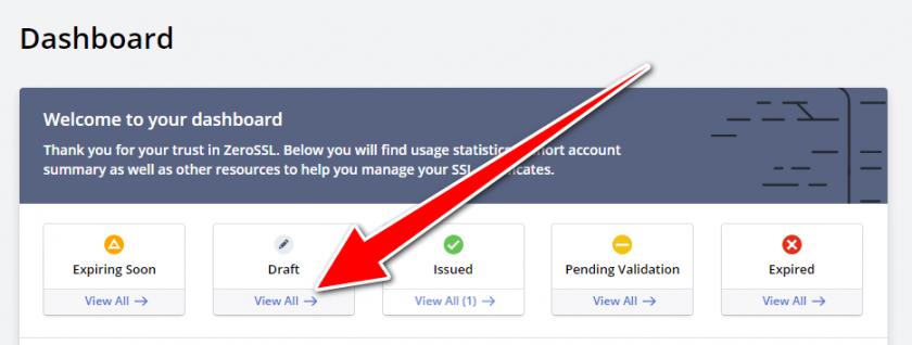 Get a free ssl certificate for wordpress - SSL dashboard