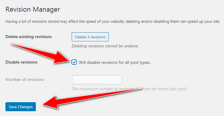 Limit Post Revisions -  Disable WordPress Revisions