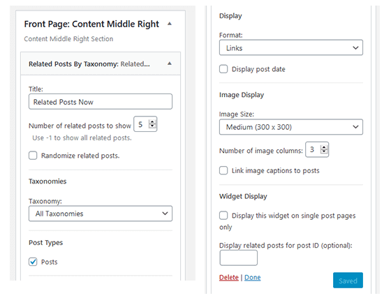 Unlimited Inline Related Posts Widget Section