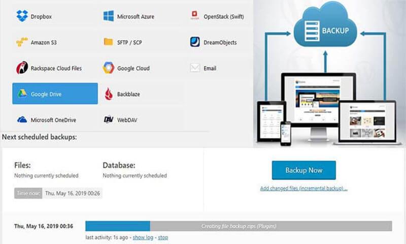 How backup wordpress site easily